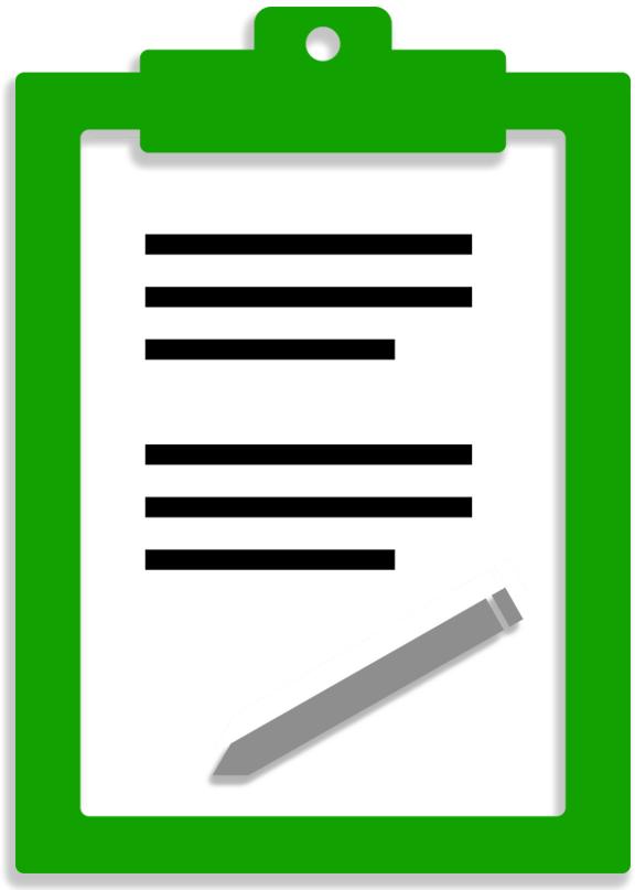 a clip board graphic
