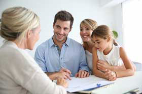 Family Applying For Down Payment Assistance Loan
