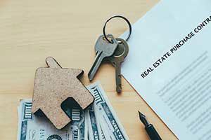 keys on top of an FHA loan