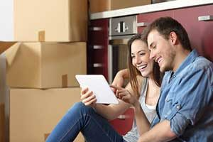 Couple happy after assistance from a Fredericksburg, VA first time home buyer loan