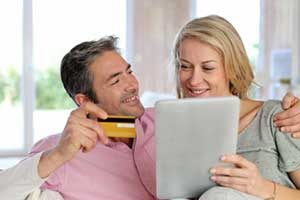 Couple reaping the benefits from assistance of a Springfield, VA first time home buyer loan