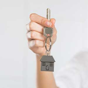 Key to new home after assistance from an Alexandria, VA first time home buyer loan