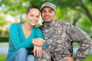 veteran and his wife who qualify for military home loans