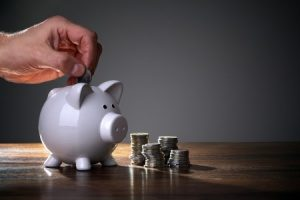 piggy bank that symbolizes income for an FHA loan