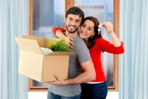 couple moving into their dream home mortgaged by FHA Section 203(k) loans