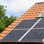 A home whose owner has taken out an energy efficient mortgage to help pay for eco-friendly solar panels