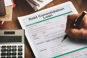 a debt consolidation loan containing income and tax information