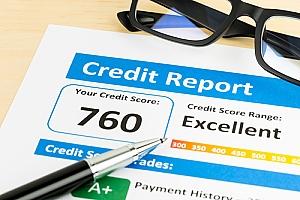Excellent credit score report