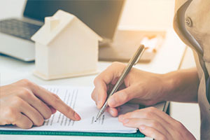 Client signs home loan