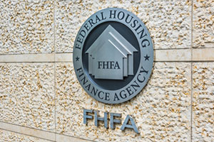 Federal Housing Finance Agency seal in downtown