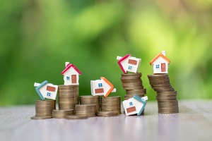 investment and house mortgage financial real estate concept